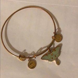 Alex and Ani moth bracelet